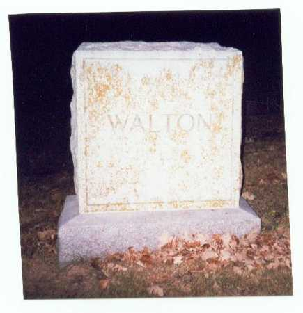WALTON, FAMILY MARKER - Pottawattamie County, Iowa   FAMILY MARKER WALTON