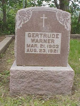 WARNER, GERTRUDE - Pottawattamie County, Iowa | GERTRUDE WARNER