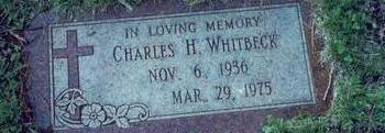 WHITBECK, CHARLES H. - Pottawattamie County, Iowa   CHARLES H. WHITBECK