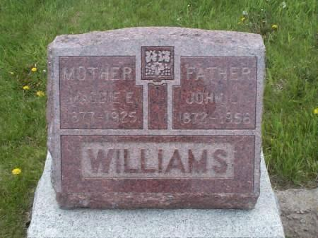 WILLIAMS, MAGGIE E. & JOHN L. - Pottawattamie County, Iowa | MAGGIE E. & JOHN L. WILLIAMS