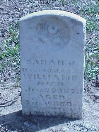 WILLIAMS, SARAH J. - Pottawattamie County, Iowa | SARAH J. WILLIAMS