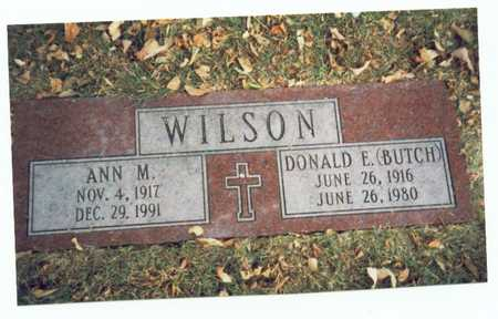 WILSON, DONALD E. - Pottawattamie County, Iowa | DONALD E. WILSON