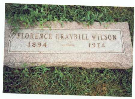 GRAYBILL WILSON, FLORENCE EVA - Pottawattamie County, Iowa | FLORENCE EVA GRAYBILL WILSON