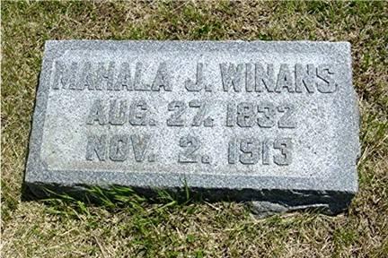 WINANS, MAHALA JANE - Pottawattamie County, Iowa | MAHALA JANE WINANS