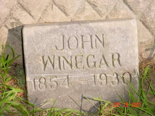 WINEGAR, JOHN - Pottawattamie County, Iowa | JOHN WINEGAR