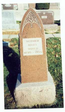 WINER, MARY - Pottawattamie County, Iowa | MARY WINER