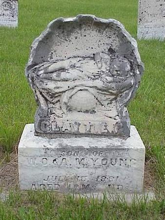 YOUNG, CLAVTIE C. - Pottawattamie County, Iowa | CLAVTIE C. YOUNG