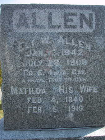 ALLEN, MATILDA - Poweshiek County, Iowa | MATILDA ALLEN