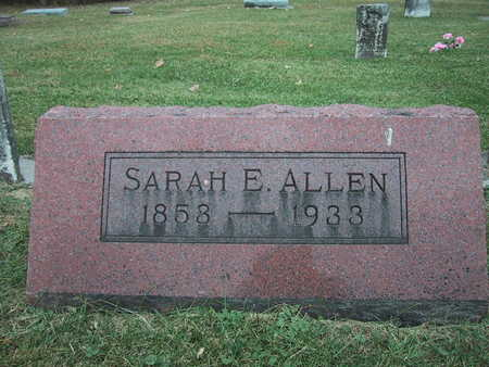 ALLEN, SARAH E. - Poweshiek County, Iowa | SARAH E. ALLEN