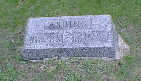 ASHING, HIRAM - Poweshiek County, Iowa | HIRAM ASHING