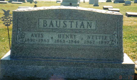 BAUSTIAN, NETTIE - Poweshiek County, Iowa | NETTIE BAUSTIAN