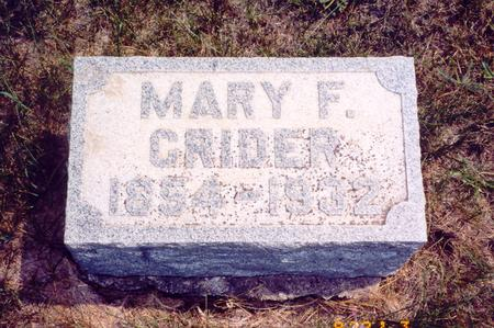 CRIDER, MARY F - Poweshiek County, Iowa | MARY F CRIDER