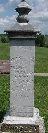KINGSLEY, ELCINA - Poweshiek County, Iowa   ELCINA KINGSLEY