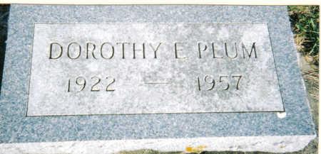 PLUM, DOROTHY - Poweshiek County, Iowa   DOROTHY PLUM