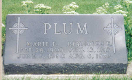 PLUM, MARIE E - Poweshiek County, Iowa | MARIE E PLUM