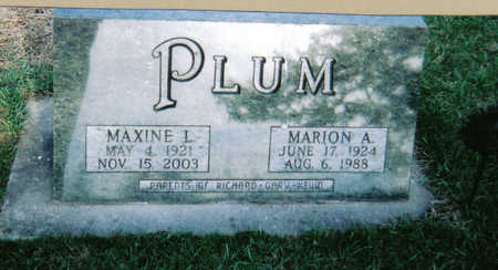 PLUM, MARION A - Poweshiek County, Iowa | MARION A PLUM