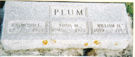 PLUM, WILLIAM H - Poweshiek County, Iowa | WILLIAM H PLUM