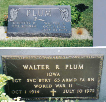 PLUM, WALTER R - Poweshiek County, Iowa | WALTER R PLUM