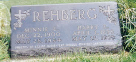 REHBERG, MINNIE E - Poweshiek County, Iowa | MINNIE E REHBERG