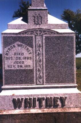 WHITNEY, MYRON - Poweshiek County, Iowa   MYRON WHITNEY