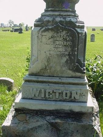 WIGTON, CLARA - Poweshiek County, Iowa | CLARA WIGTON