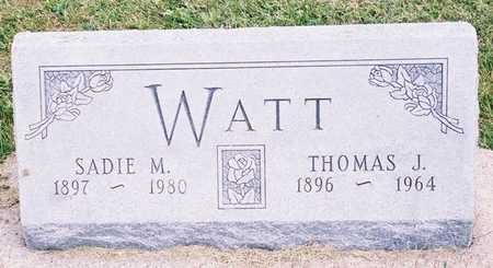 WATT, THOMAS J. - Ringgold County, Iowa | THOMAS J. WATT