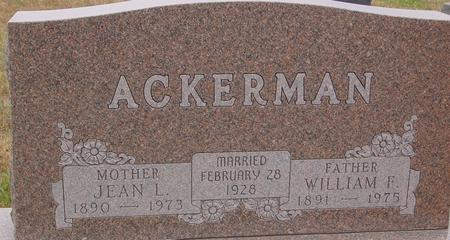 ACKERMAN, WILLIAM F. - Sac County, Iowa | WILLIAM F. ACKERMAN