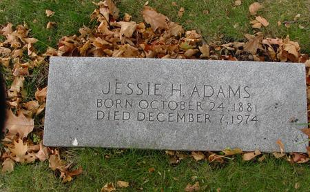 ADAMS, JESSIE H. - Sac County, Iowa | JESSIE H. ADAMS