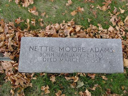MOORE ADAMS, NETTIE - Sac County, Iowa | NETTIE MOORE ADAMS