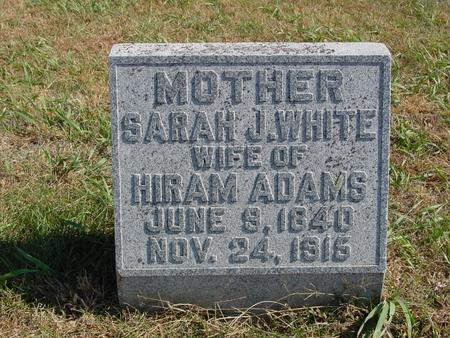 WHITE ADAMS, SARAH J. - Sac County, Iowa | SARAH J. WHITE ADAMS