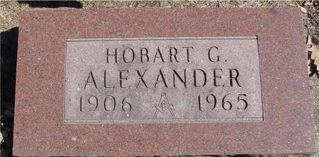 ALEXANDER, HOBART G. - Sac County, Iowa | HOBART G. ALEXANDER