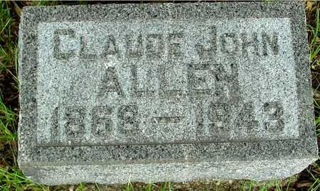 ALLEN, CLAUDE JOHN - Sac County, Iowa | CLAUDE JOHN ALLEN