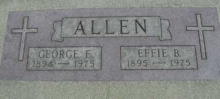 ALLEN, GEORGE & EFFIE B. - Sac County, Iowa | GEORGE & EFFIE B. ALLEN