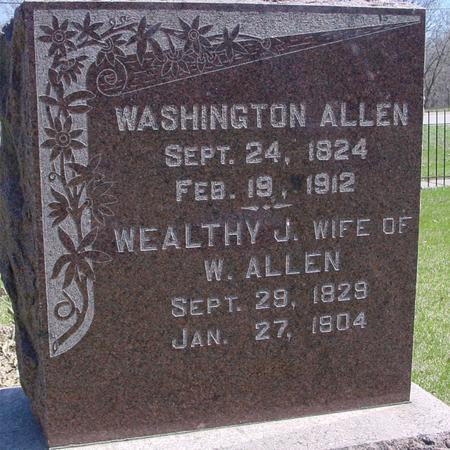 ALLEN, WASHINGTON - Sac County, Iowa   WASHINGTON ALLEN