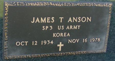 ANSON, JAMES T. - Sac County, Iowa   JAMES T. ANSON