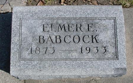 BABCOCK, ELMER E. - Sac County, Iowa | ELMER E. BABCOCK