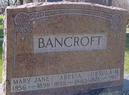 BANCROFT, ABEL A. & MARY JANE - Sac County, Iowa | ABEL A. & MARY JANE BANCROFT