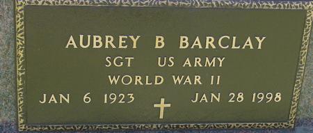 BARCLAY, AUBREY B. - Sac County, Iowa   AUBREY B. BARCLAY