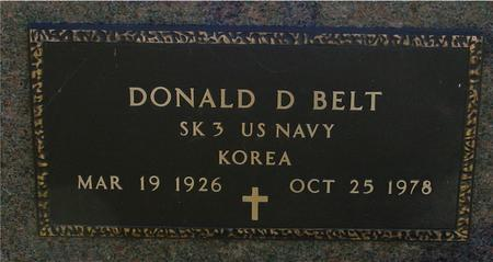 BELT, DONALD D. - Sac County, Iowa   DONALD D. BELT