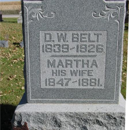 BELT, D. W. & MARTHA - Sac County, Iowa | D. W. & MARTHA BELT