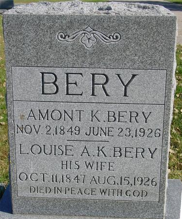 BERY, AMONT & LOUISE - Sac County, Iowa | AMONT & LOUISE BERY