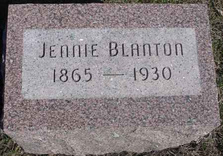 BLANTON, JENNIE - Sac County, Iowa | JENNIE BLANTON