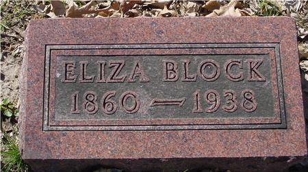 BLOCK, ELIZA - Sac County, Iowa | ELIZA BLOCK