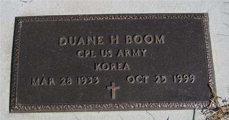 BOOM, DUANE H. - Sac County, Iowa | DUANE H. BOOM