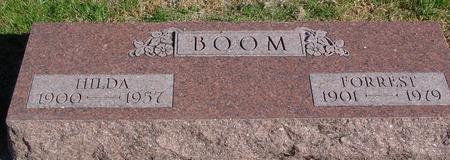 BOOM, FORREST & HILDA - Sac County, Iowa | FORREST & HILDA BOOM