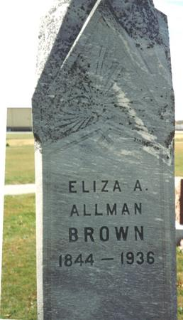 ALLMAN BROWN, ELIZA A. - Sac County, Iowa | ELIZA A. ALLMAN BROWN