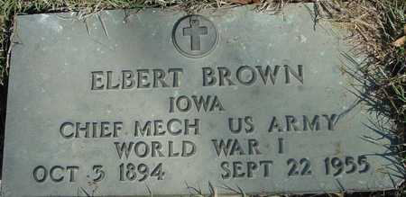 BROWN, ELBERT - Sac County, Iowa | ELBERT BROWN