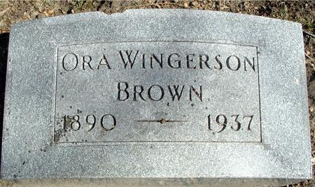WINGERSON BROWN, ORA - Sac County, Iowa | ORA WINGERSON BROWN
