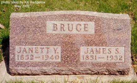 BRUCE, JAMES S. & JANETT Y. - Sac County, Iowa | JAMES S. & JANETT Y. BRUCE