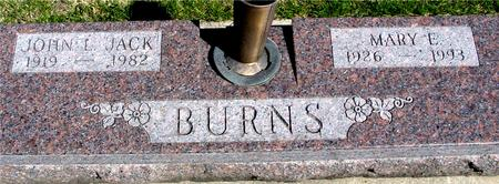 BURNS, JOHN L. & MARY E. - Sac County, Iowa | JOHN L. & MARY E. BURNS